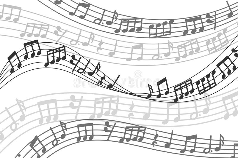 Abstract Vector Musical Background With Music Notes And