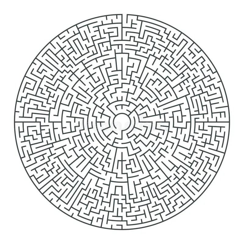 Round Maze Royalty Free Stock Photos
