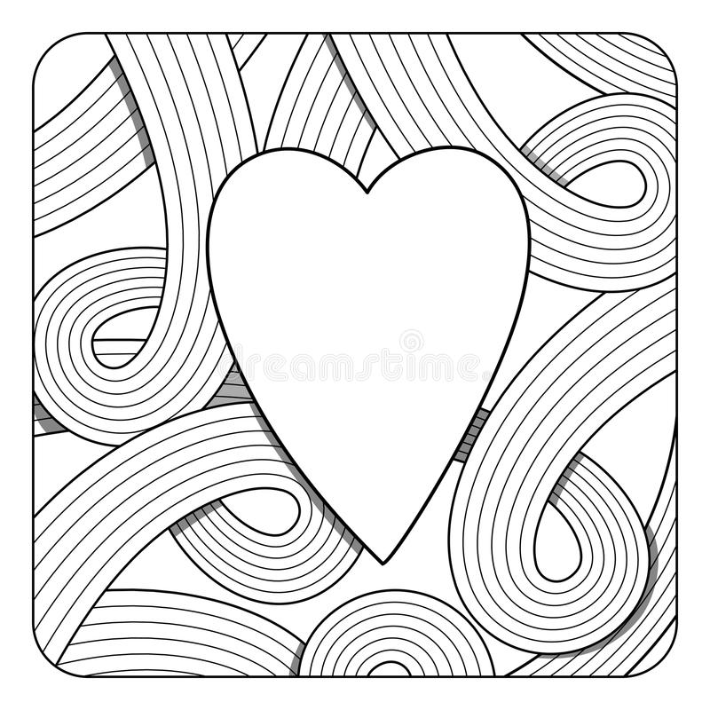 Abstract Zentangle Background. Blank Template For Your