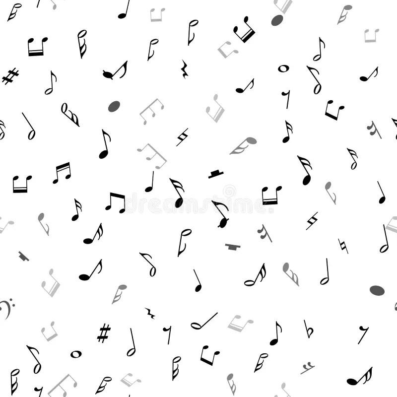Abstraktes Musikalisches Nahtloses Muster Mit Schwarzen