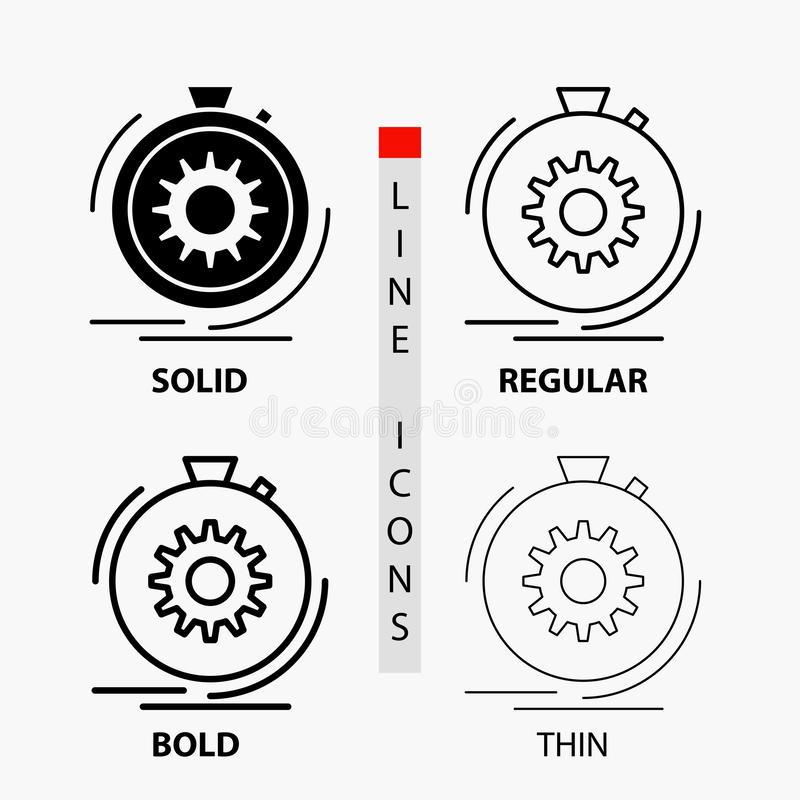 Action, Fast, Performance, Process, Speed Line Icon Stock
