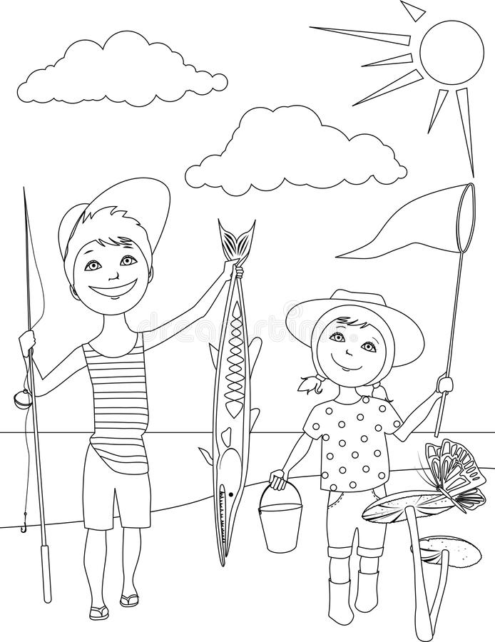 Activités D'été Pour Des Enfants Colorant La Page