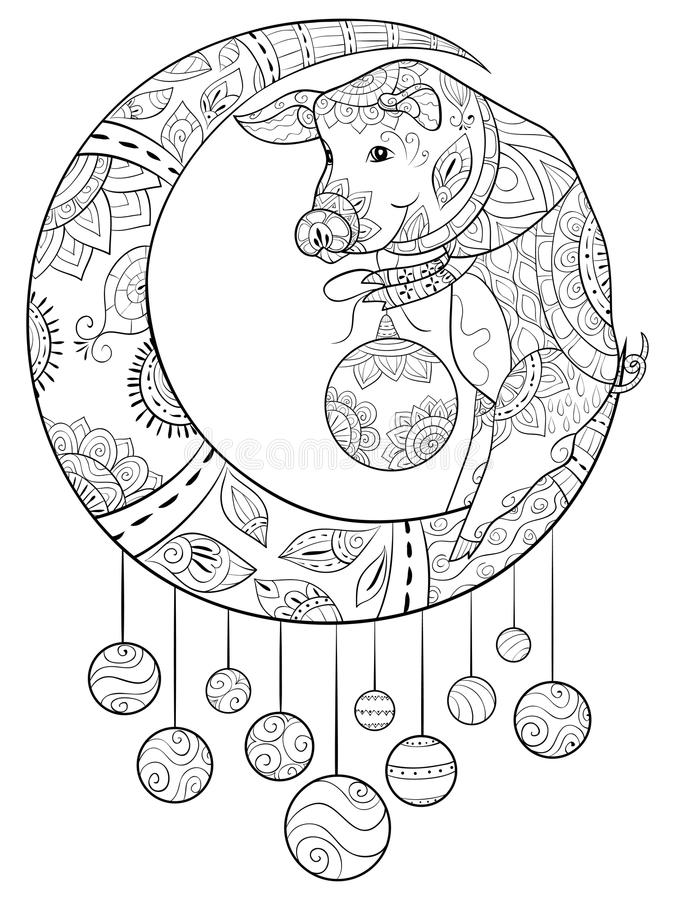 Adult Coloring Bookpage A Cute Turtle Image For RelaxingZen Art Style Illustration For Print