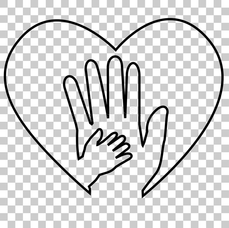 Download Adult Hand And Baby Hand At Love Shape, At Transparent ...