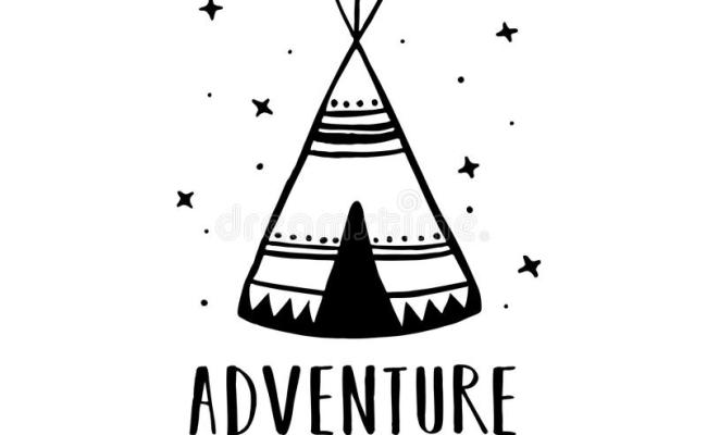 Adventure Awaits Scandinavian Style Hand Drawn Poster