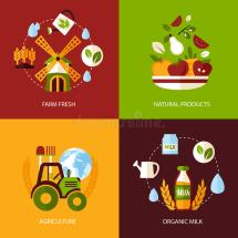 Agriculture Icon Set Stock Vector. Of Isolated