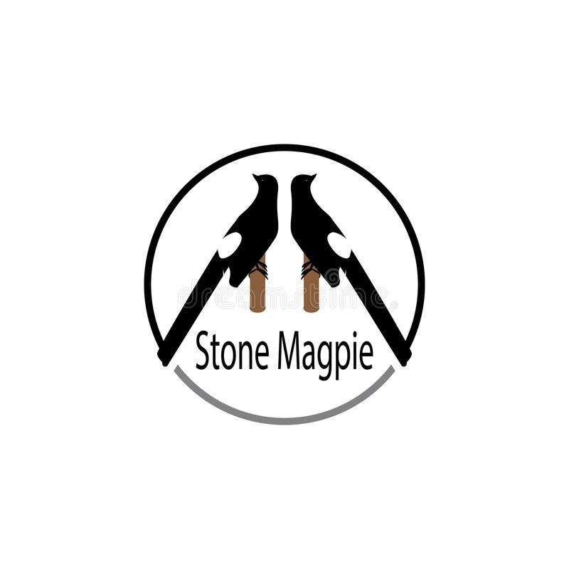 Magpie Stock Illustrations