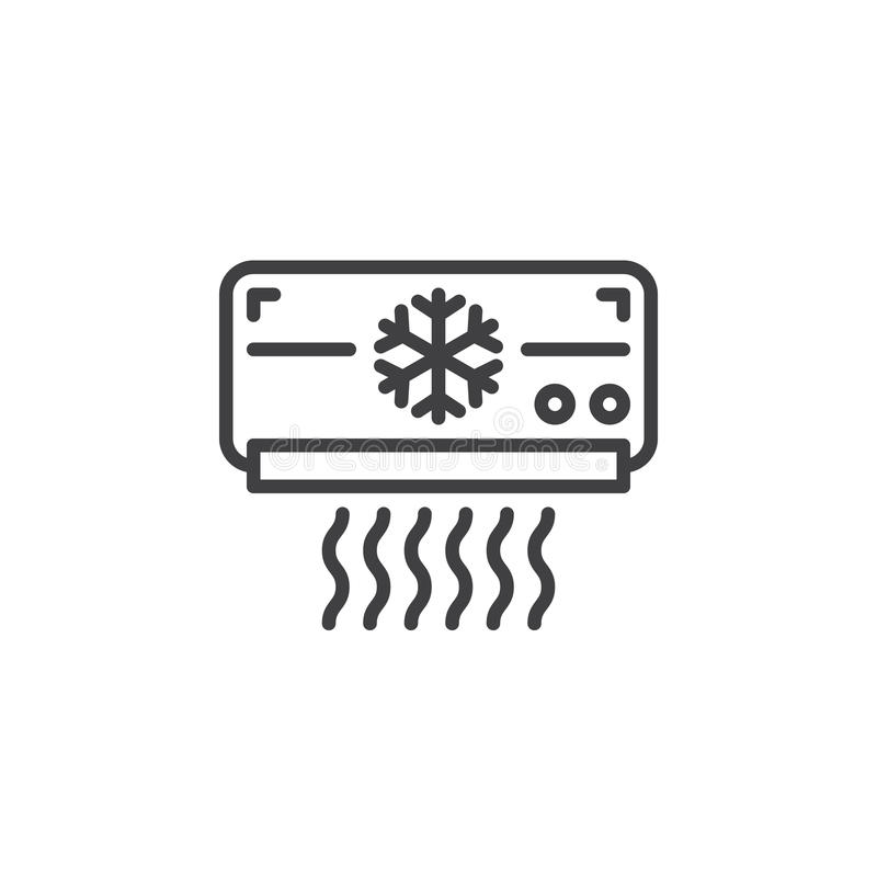 Air Conditioner Line Icon, Outline Vector Sign, Linear