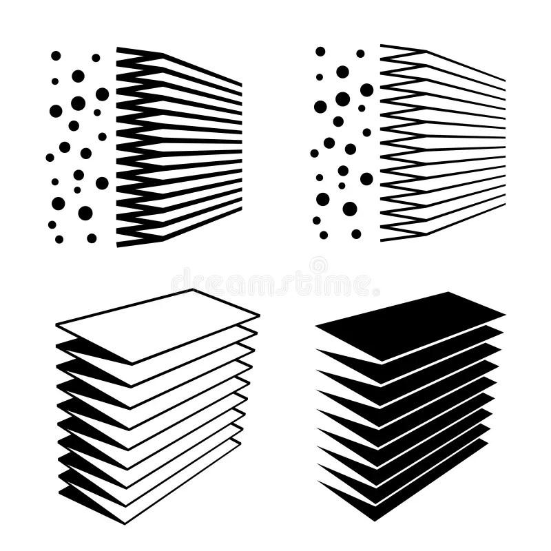 Air filter effect symbol stock vector. Illustration of