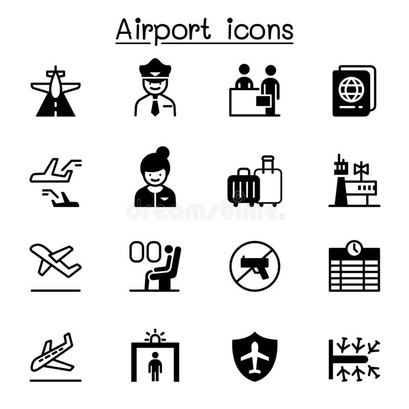 Vector Airport Icon stock vector. Illustration of icon