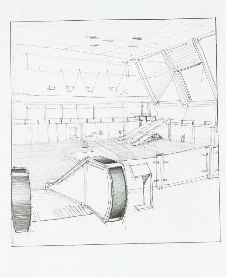 Sketch Escalator Stock Illustrations