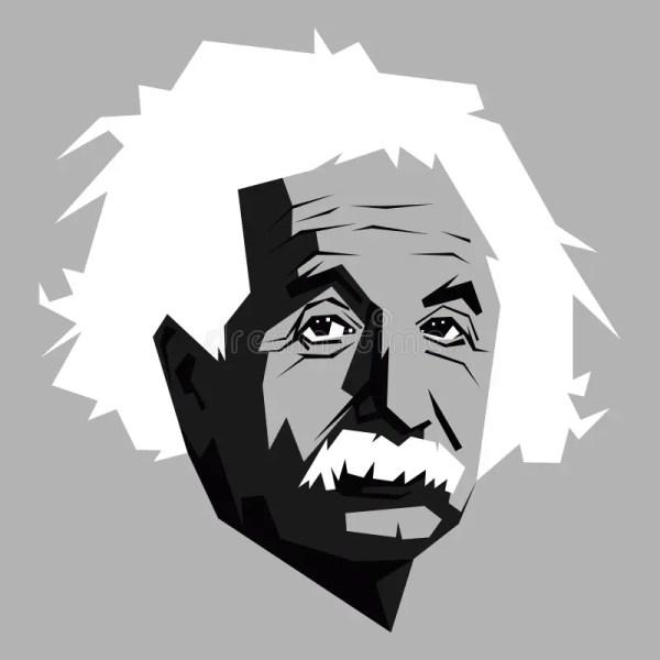 Albert Einstein.vector Portrait Of Einstein