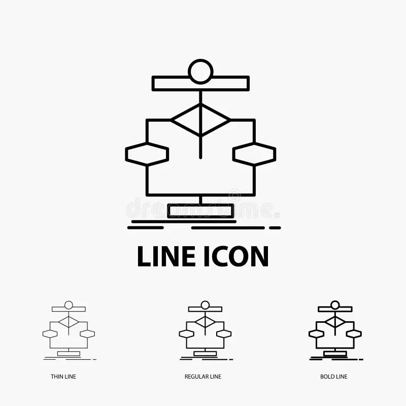 Algorithm, Chart, Data, Diagram, Flow Line Icon On