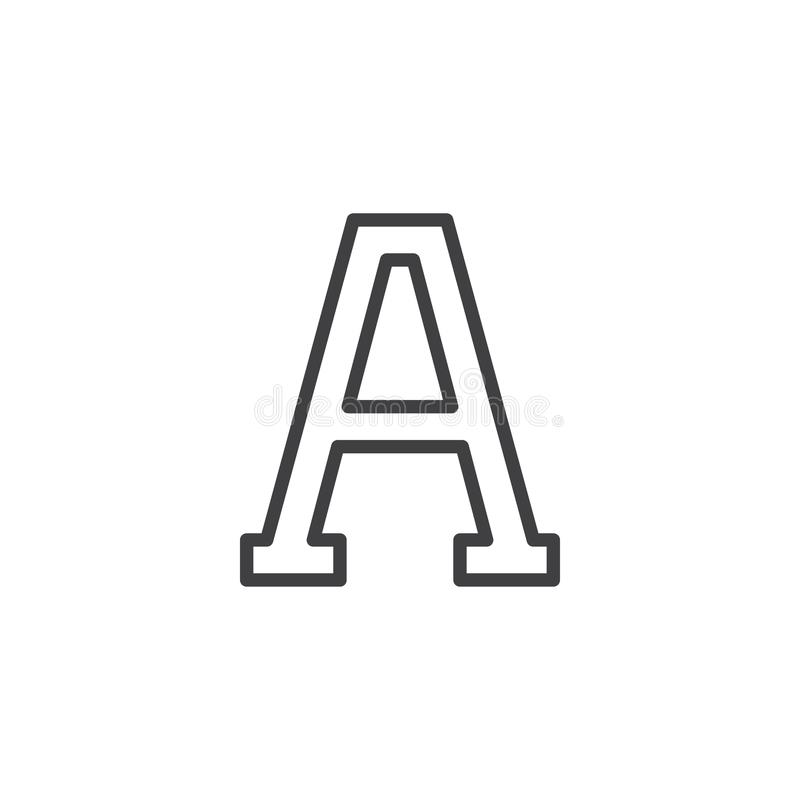 Alpha sign stock vector. Illustration of letter