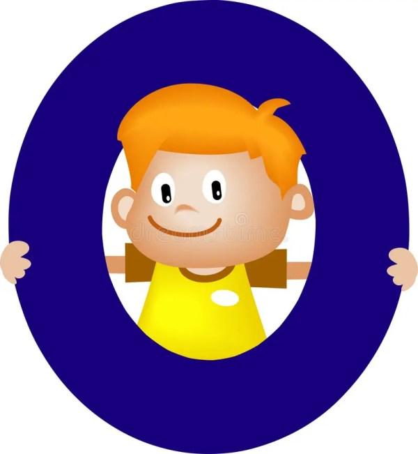 Alphabet Letter Boy Stock Illustration. Illustration
