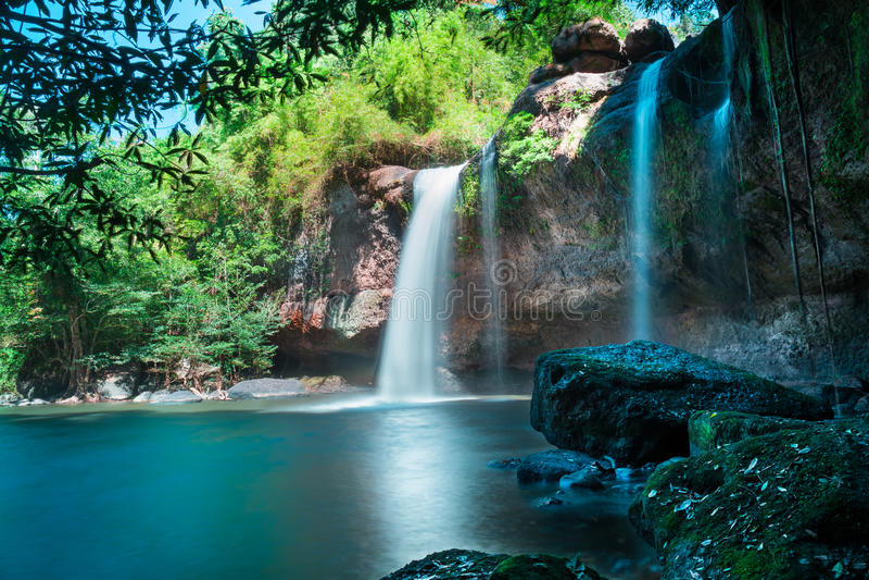 Kuang Si Falls Hd Wallpaper Amazing Beautiful Waterfalls In Deep Forest At Haew Suwat