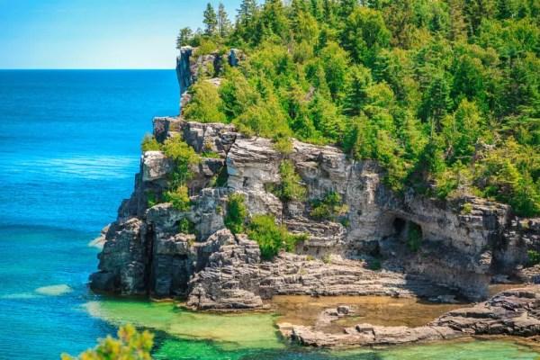 amazing natural rocky beach landscape