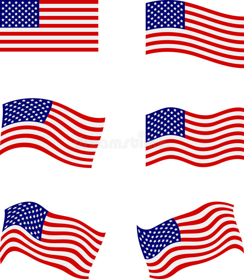 american flags stock illustrations