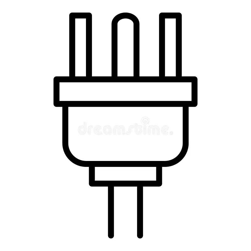 Face outline power cord stock illustration. Illustration