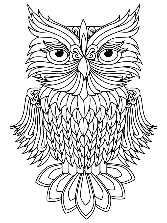 Owl Cartoon Images Black And White