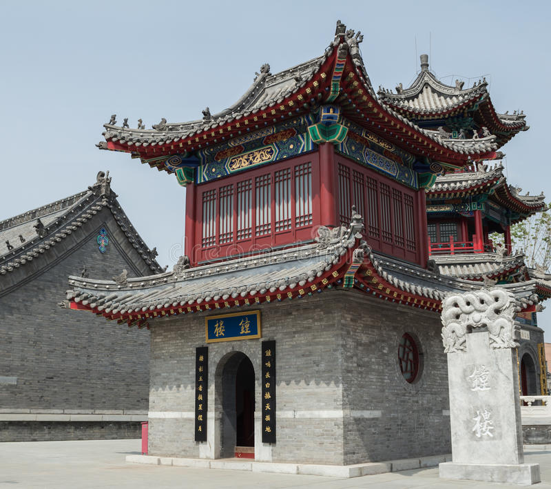 The Ancient Chinese Traditional Architecture Stock Photo