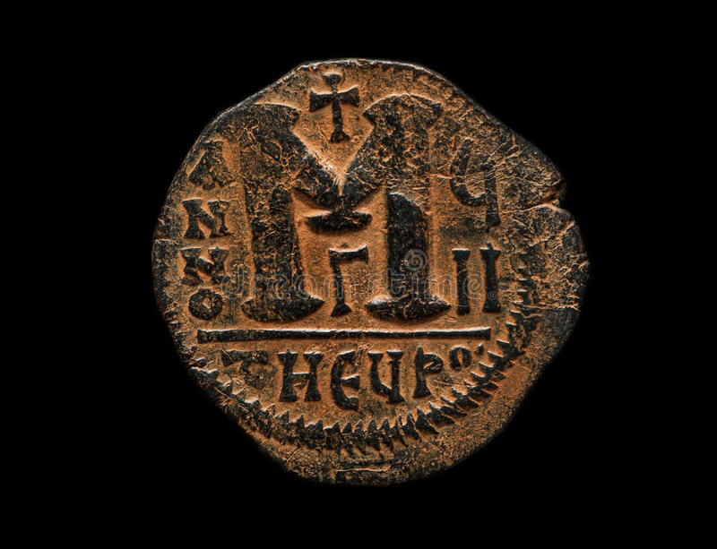 Ancient Copper Coin With M Letter On It Stock Image - Image of metal. banking: 83290105