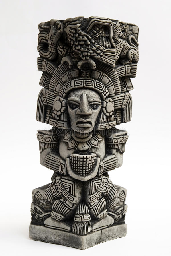 Ancient Mayan Sculpture Stock Image Image Of Carved