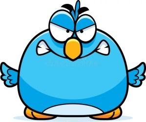 angry cartoon bluebird illustration gnash looking dreamstime illustrations vectors