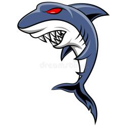 cartoon shark angry coral illustration whale jumping ocean reef