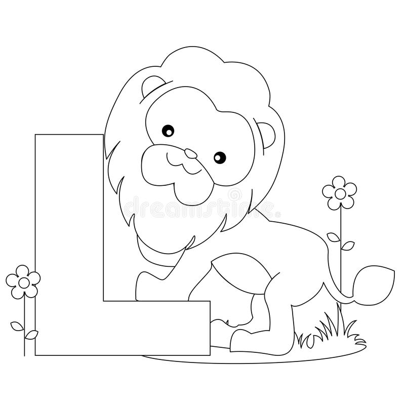 Alphabet coloring page stock vector. Illustration of