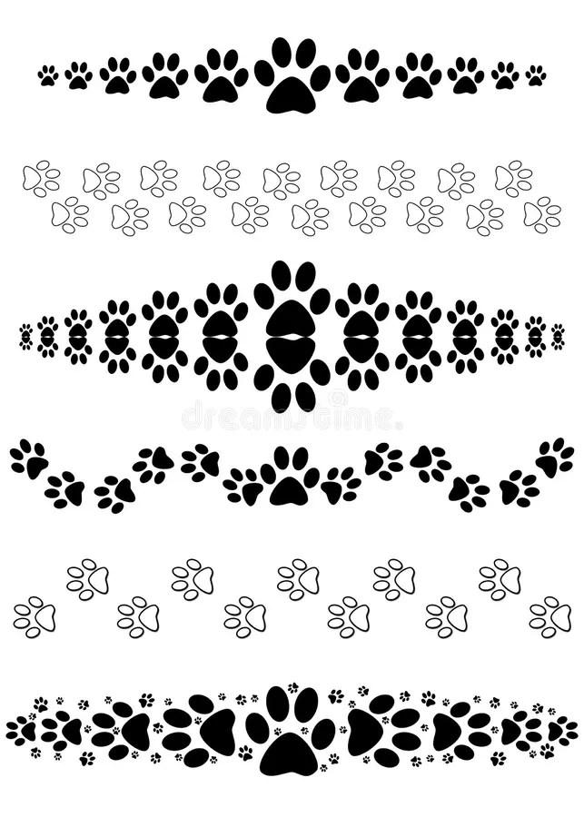 Animal Print Wallpaper Border Animal Paw Print Dividers Stock Illustration Image Of