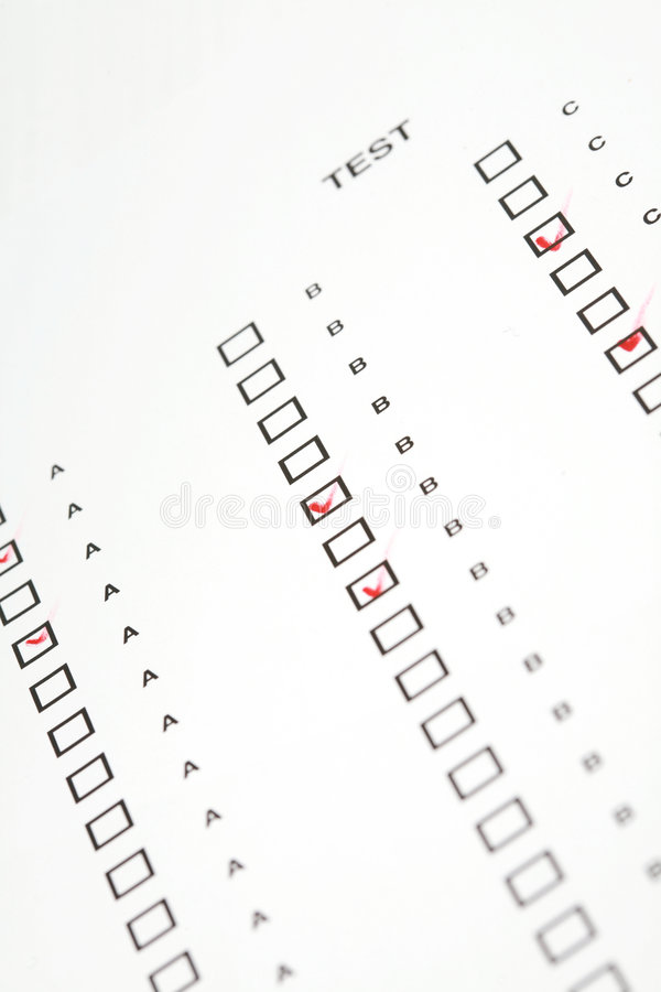 Test on scantron stock photo. Image of pencil, choose