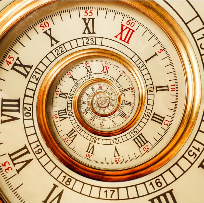 spiral clock stock images