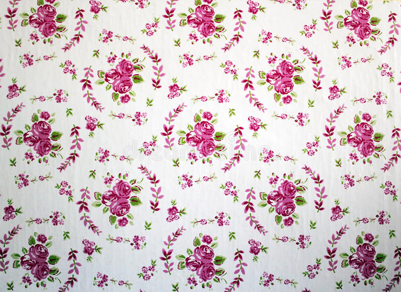 Antique Pink And Red Shabby Chic Rose Repeat Pattern