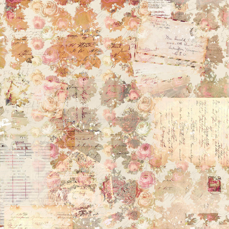 Vector Wallpaper Fall Colors Antique Vintage Roses Patterned Background In Rustic Fall