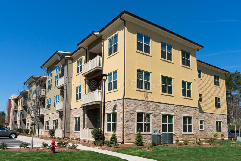 Apartment complex exterior stock image Image of modern