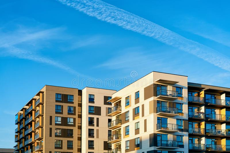 Apartment complex stock image. Image of wall. house. window - 796463