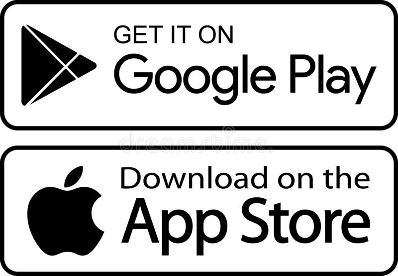 Google Play App Store Icons Editorial Stock Photo