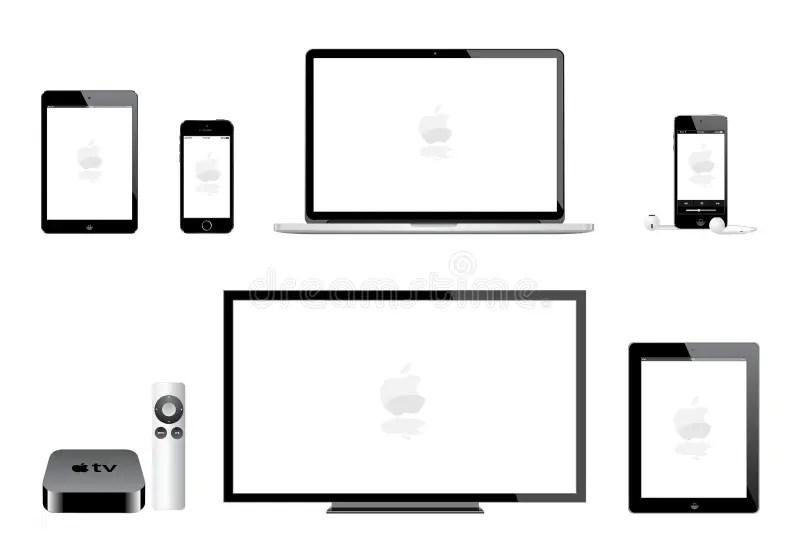 Apple Ipad Mini Iphone Ipod Mac Tv Editorial Image