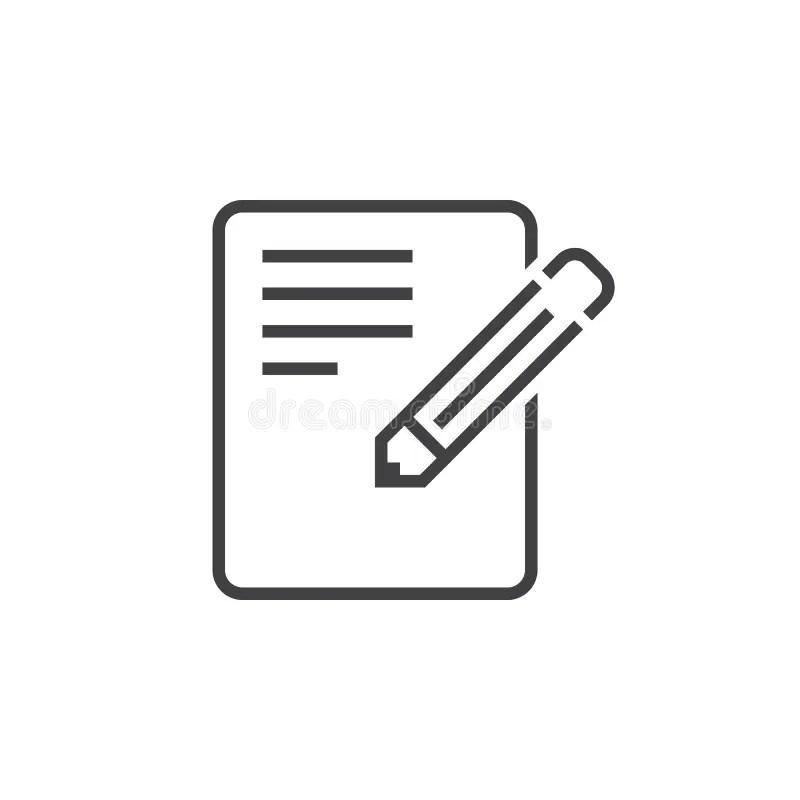 Application Form Line Icon, Edit Outline Logo Illustratio