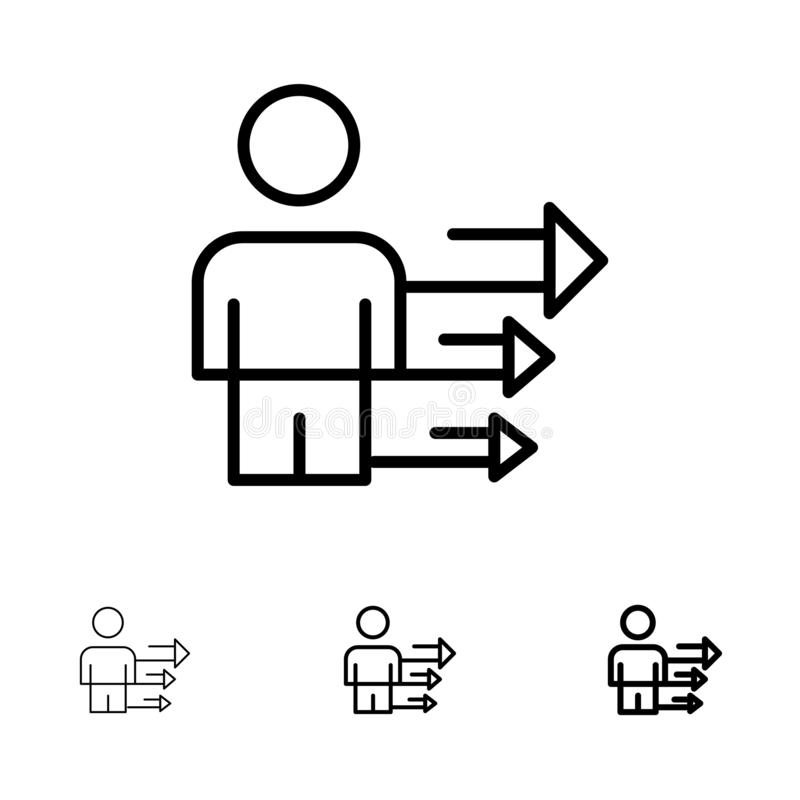 Set Of Thin Line Icons Project Management, Business