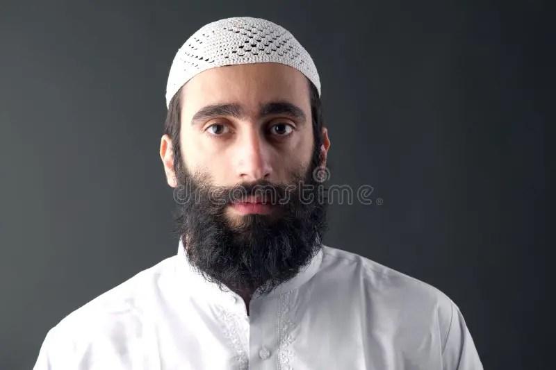Arabic Muslim Man With Beard Portrait Stock Image Image