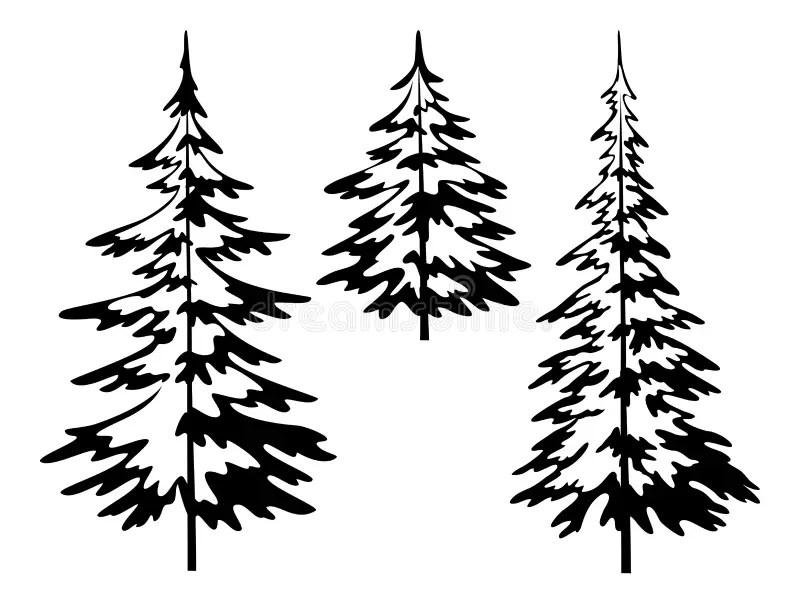 Arbre De Sapin De Noël, Découpes Illustration de Vecteur