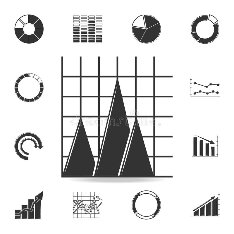 Area Chart Icon. Detailed Set Of Trend Diagram And Chart