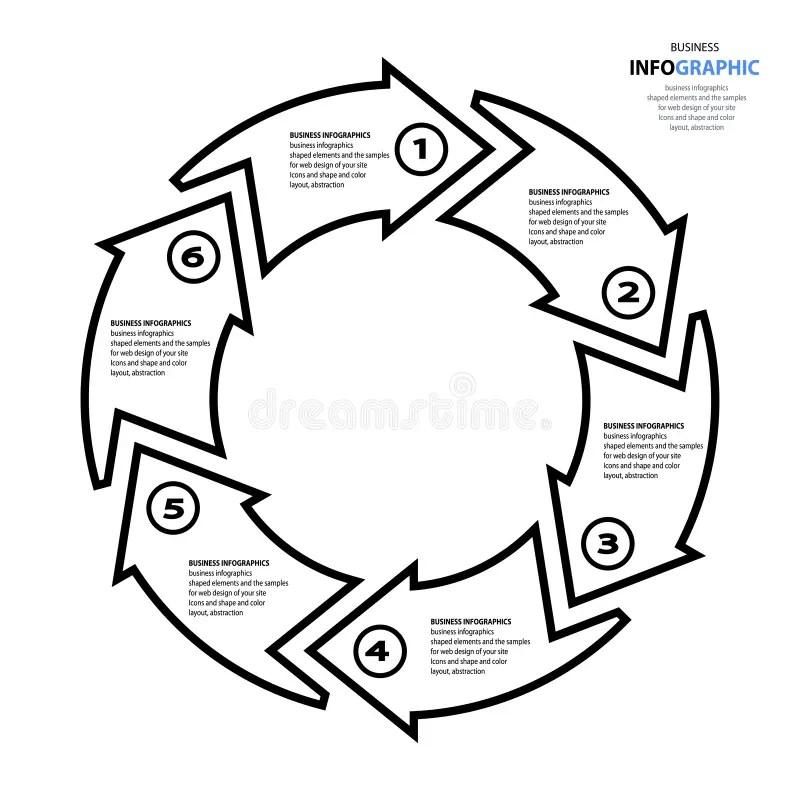 Marketing Web Strategy Chart Arrow Illustration Stock