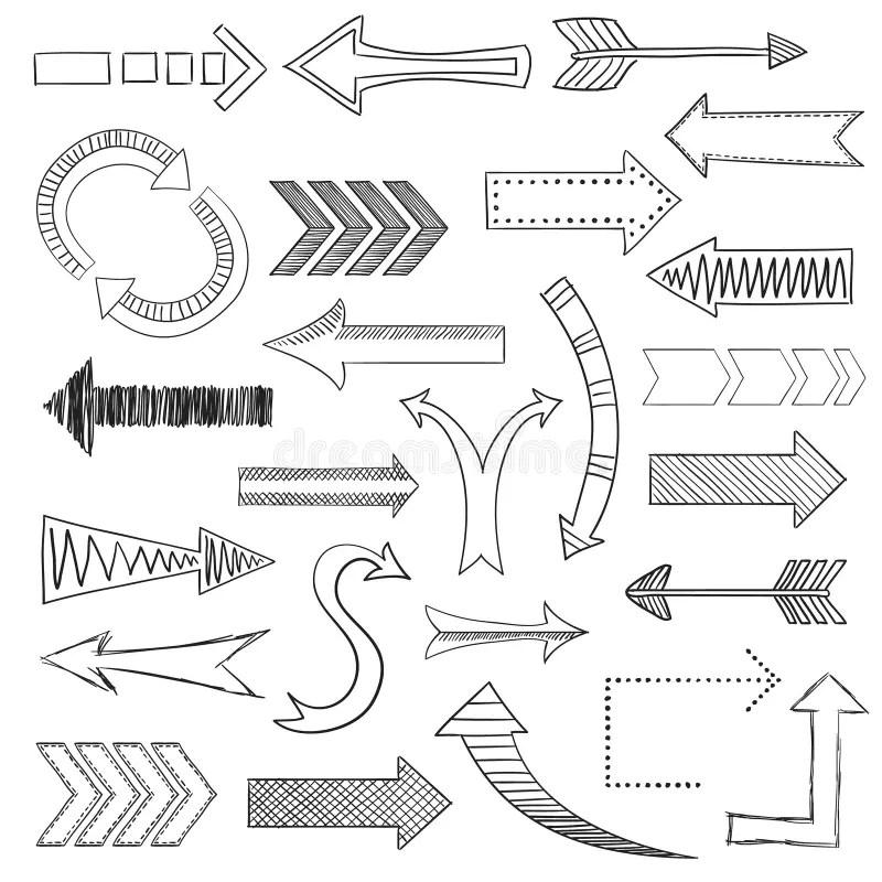 Arrow set stock vector. Illustration of pointer, drawn