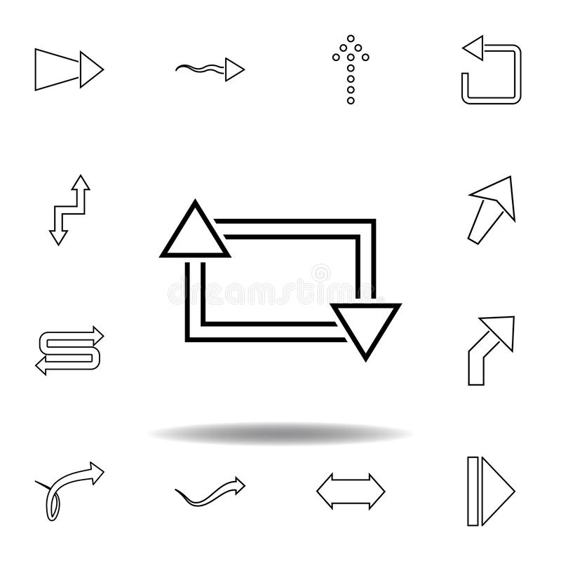 Square Modern App Template Icons. Stock Vector
