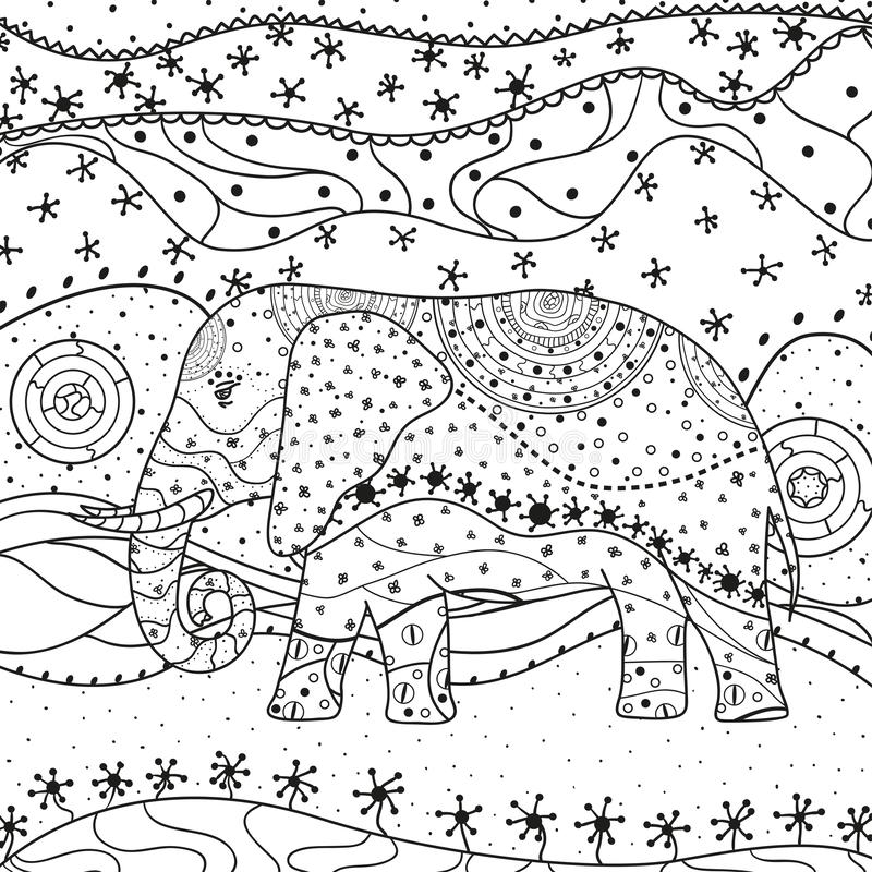 Big road coloring book stock vector. Illustration of