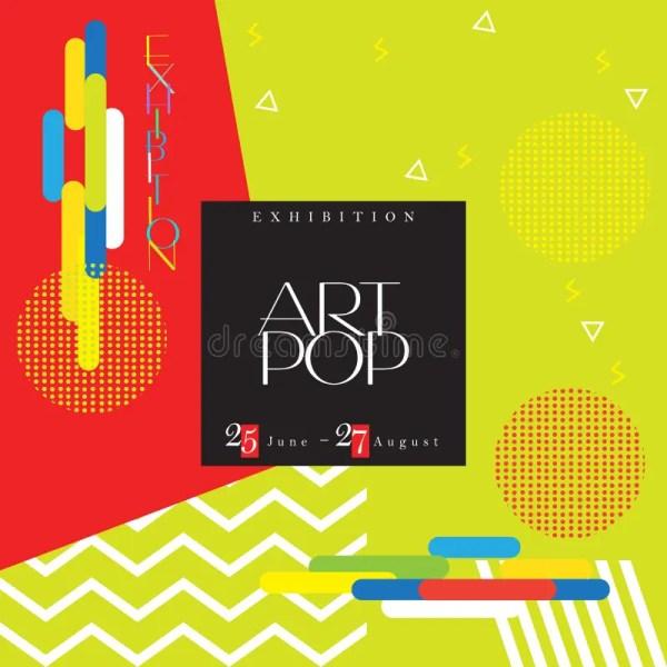Art Exhibition Flyer Stock Vector - 95320087