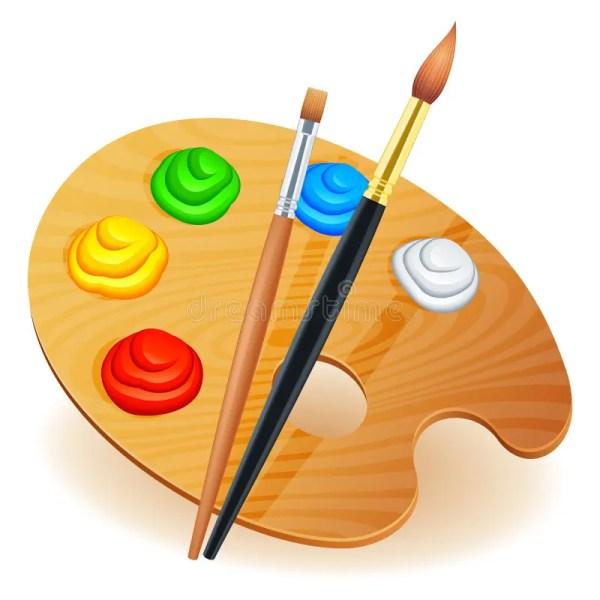 Art Palette. Stock Vector. Illustration Of Canvas Color